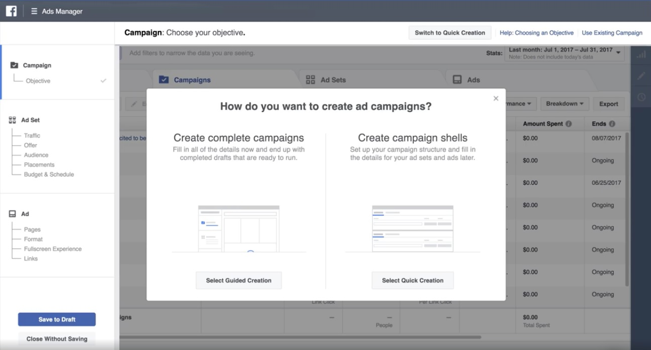 Facebook updated Ads Manager