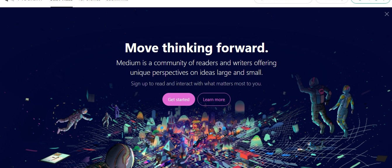 Screenshot of Medium.com